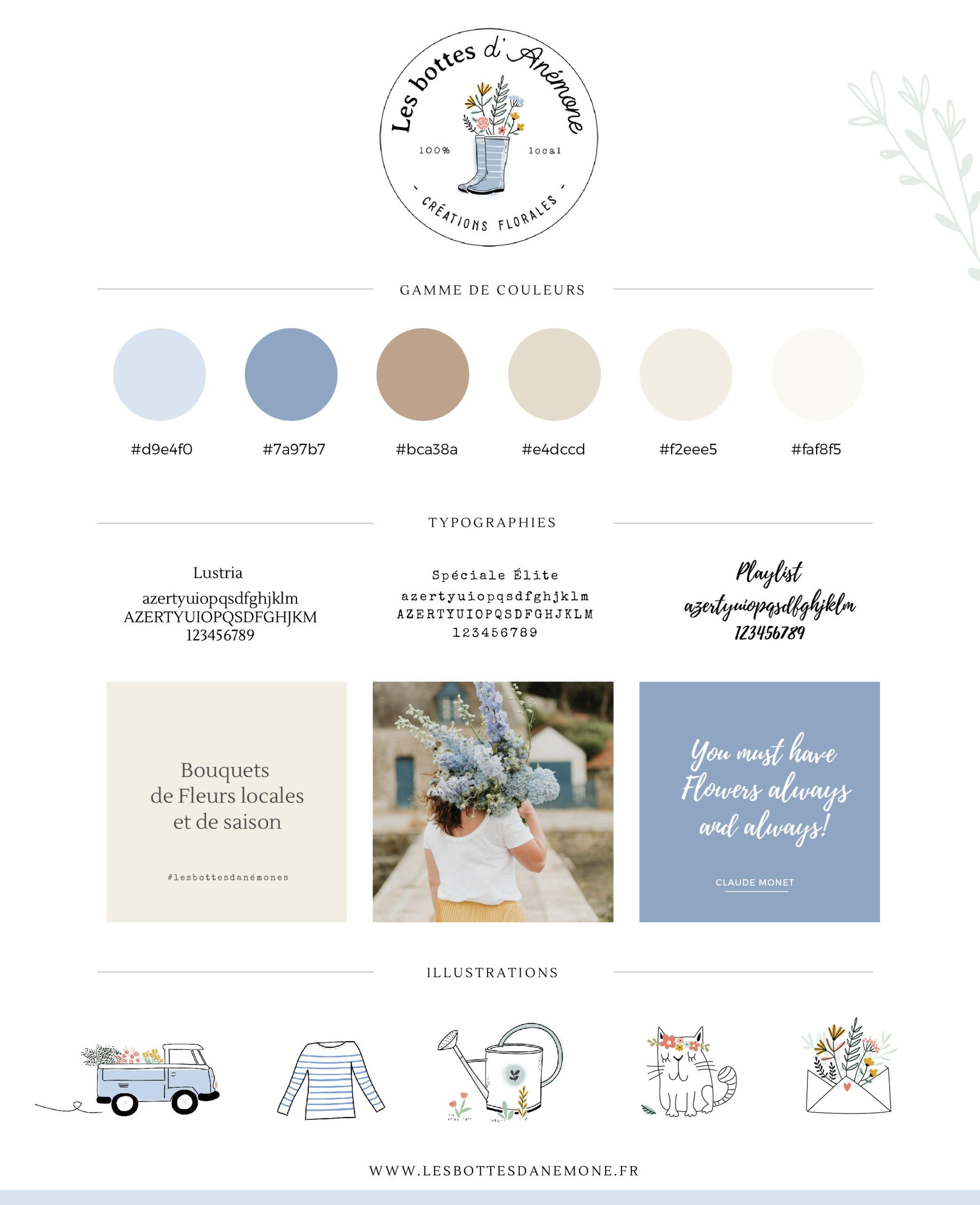 Création d'image de marque fleuriste éco-responsable