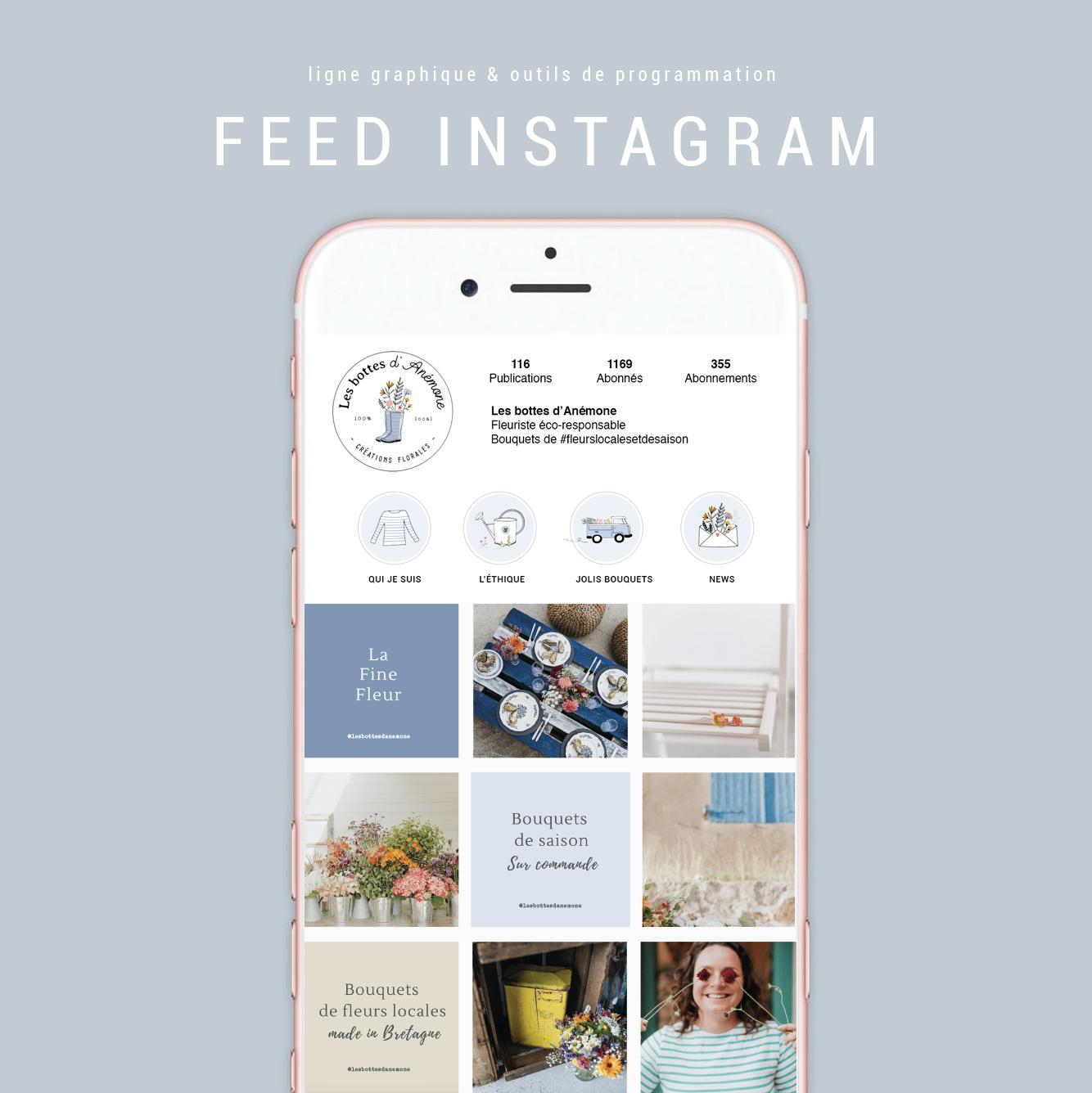 Création d'univers graphique pour Instagram